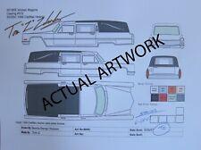 1:64 Johnny Lightning '66 Cadillac Hearse ARTWORK