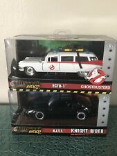Hollywood Rides Ghostbusters Cadillac Ecto-1 & Knight Rider KITT Die-Cast Cars