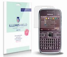 iLLumiShield Matte Screen Protector w Anti-Glare/Print 3x for Nokia E72