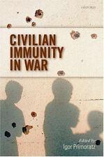Civilian Immunity in War