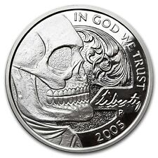 "Hobo Nickel Series ""Jefferson Skull"" 1 oz .999 Silver Proof-Like Round USA Coin"