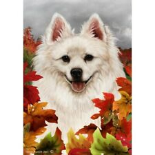 Fall House Flag - American Eskimo 13126