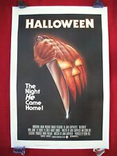 HALLOWEEN * 1978 ORIGINAL MOVIE POSTER 1SH LINEN BACKED ROLLED NEVER FOLD BEAUTY