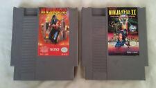 Ninja Gaiden LOT I II 1 & 2 (Nintendo Entertainment System, 1989) NES Tested!