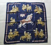 Hermès Authentique et superbe carré en soie « Carrousel » Ed. 1984 - TBE