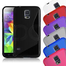 La línea de Goma Gel Slim S caso cubierta de piel para Teléfonos Samsung