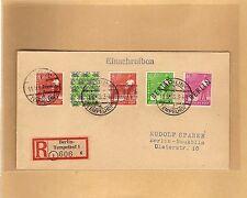Berlin / Mi.-Nr. 12 + 4 + SBZ 184 + Biz auf philatel. Pracht-Orts-E.-Brief