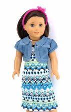 "Tribal print maxi dress set 18"" doll clothes fits American Girl"