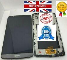 100% Genuine Original LG G3 D850 D855 Metallic Black LCD Screen Display Frame UK
