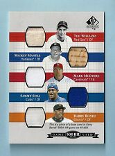 WILLIAMS MANTLE MCGWIRE SOSA BONDS 2003 SP AUTHENTIC 500 HR GAME USED JERSEY BAT