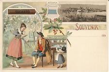 Suchard, Schokolade, Milch, Reklame, Werbung, Litho-Ak um 1900, Zug-Zoug-Schweiz