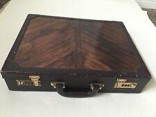 Vintage Attache Briefcase Sudhaus Dark Brown Burgundy Programmable Lock