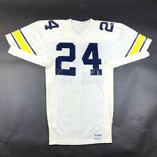 Vintage Sand Knit University of Michigan Size 46 S Football Jersey #24 USA NWOT