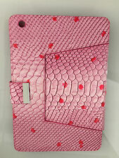 ipadmini Leather Prima Croc Case - Pink