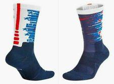NIKE Elite Crew 4th of July Socks Sx7273 410 Blue  SZ XL 12-15 USA socks