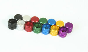 FOUR CNC machined alloy valve dust caps covers