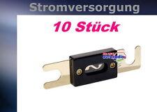 { 10 x Sicherung ANL 100A 24K vergoldet 100 Ampere