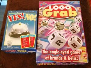 2 GAME LOGO GRAB & THE YES NO GAME BOTH COMPLETE & COMPACT FOR EASY STORAGE