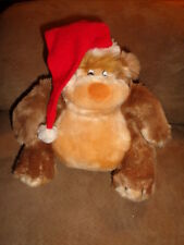 "Bear EGBERT BABY Christmas Santa Hat 1981 Applause 7806 stuffed 8"" plush fat"