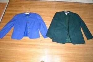 VTG Clothing 2x Lot Blazer Jacket Classic Pendleton Professional SIZE 10 Wool