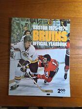 1975-76 boston bruins yearbook