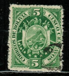 """Bolivia #40 on thick paper 1894 Used """"rare"""""""