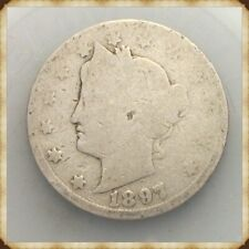 """1897 Liberty Nickel  """"Actual Coin Pictured"""""""