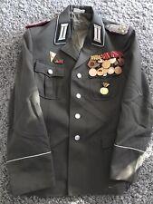 Panzer Oberst Paradejacke mit Orden NVA DDR Uniform KVP