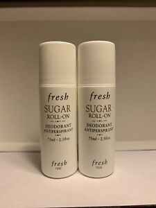2 x Fresh Sugar Roll-On Deodorant Antiperspirant 2.5 oz / 75 ml