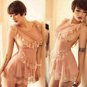 Diverse Women Sexy Lingerie Lace Dress G-string Underwear Babydoll Sleepwear Set