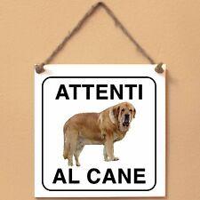 Mastino spagnolo 2 Attenti al cane Targa cane cartello ceramic tiles