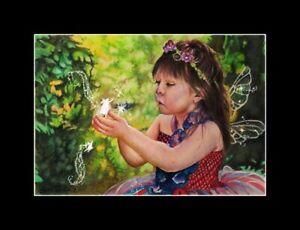 "original drawing"" the fairy child 2 ""fantasy 5X7 pixie realism nadia"