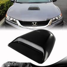 JDM Sport Racing Black Front Air Flow Hood Scoop Vent Bonnet Cover For Acura
