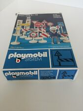 Playmobil 3204 v1 - Traffic Control COMPLETE in rare FIRST EDITION BLUE BOX