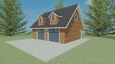 32' x 28' GARAGE FLOOR PLAN WITH ATTIC SPACE
