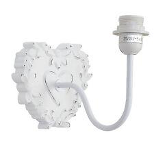 Applique da parete lampada cuore rustico vintage bianco shabby CLAYRE EEF