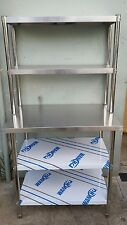 New Stainless Steel Bench with Over-shelving 1800 x 600 x 900 x 300 x 780 mm