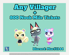 Raymond Judy Marshal ANY Animal Crossing New Horizons Villager + FREE BONUS