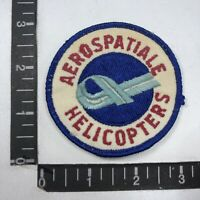 Vtg Aircraft Helicopter Patch AEROSPATIALE HELICOPTERS C99F
