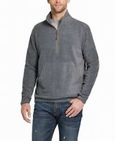 Weatherproof Vintage Mens Sweater Gray Size Small S 1/2 Zip Fleece $60 137
