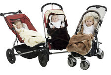 Mini Mink Pram Papoose - Faux Fur - Fully Lined - Rich Chocolate Colour