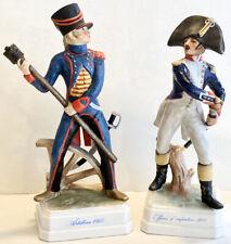 Two 1968 Goebel Hummel Figurines Artilleur 1805 & Officier d'Infanterie 1812