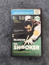 Reardon On Snooker VHS - Guild Home Video