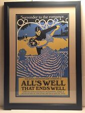 Broadway NY Theater Poster All's Well That Ends Well Framed Royal Shakespeare Co