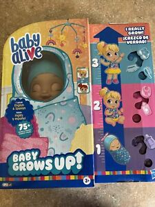 """NEW Baby Alive """"Baby Grows Up"""" Happy Hope or Merry Meadows Growing Doll SHIP NOW"""