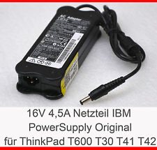 IBM Alimentation 16 volts 4,5 ampères thinkpad 600 600e 600x t21 t22 t30 t43 t42-n15