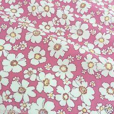 Pro halben Meter Rosa Lazy Daisy Stoff 44 cm breit 100% Baumwolle Popeline