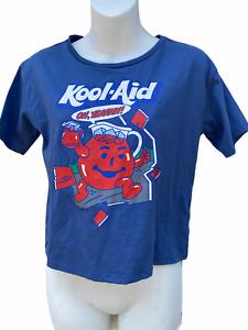 Kraft Kool Aid Bleu Manches Courtes Court T-Shirt Fille XL 14/16