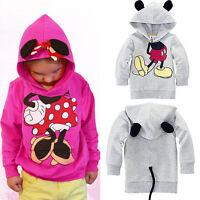 Kids Girls Boys Toddler Minnie Mouse Hoodies Sweatshirt Hooded Coat Casual Tops