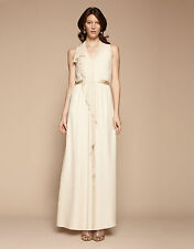 BNWT Monsoon Kirkland Silk Ivory Bridal Wedding Maxi Dress Size 10 NEW